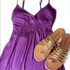 Purple tie-back tank Super adorable purple tank! Ties in the back to accentuate your waist! Padded cups and adjustable bra like straps. Size Small. 15% discount on bundles. No PayPal or trades. Tops Tank Tops