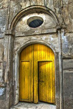 yellow door   by FOKS creative house #yellow #art