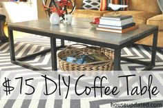 How To Build A Diy Industrial Coffee Table For Only $75.24