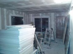 Taringa! Hice mi casa en Steel Framing y quiero compartirlo Steel Framing, Living Comedor, Frame, Drywall, Internet, Ideas, Modular Homes, Prefab Homes, Home Plans