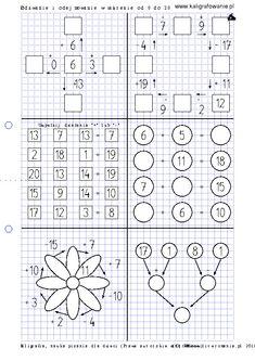Dodawanie i odejmowanie w zakresie od 0 do 20 | Drupal Math Work, Fun Math, Worksheets, Crafts For Kids, Words, Activities, Mind Games, Math Games, Therapy