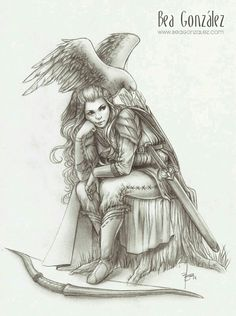 Rowan in hawk form, with Aelin