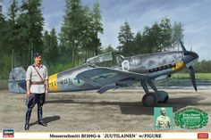Hasegawa Messerschmitt Juutilainen Model Kit from Japan Ww2 Aircraft, Fighter Aircraft, Military Aircraft, Fighter Jets, Luftwaffe, Ww2 History, Military History, Mustangs, Finland Air