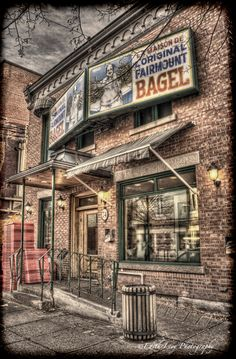 Fairmount Bagel іs а Montreal-style bagel bakery іn Montreal, Quebec, Canada. Іt іs located оn Fairmount Avenue іn the Mile End neighbourhood оf the Plateau-Mont-Royal borough. Westminster, Montreal Quebec, Montreal Food, Toronto, Ontario, Capital Of Canada, Modern Skyscrapers, Cultural Experience, Canada Travel