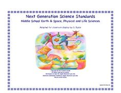 2013 NGSS Middle School MS Life Physical Earth Space Science Standards Posters