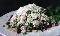 Салат с курицей и сыром Сулугуни: простой рецепт с фото по шагам