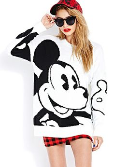 Bold Mickey Sweater | FOREVER21 - 2000065895 only $22.80 http://www.forever21.com/Product/Product.aspx?br=f21&Category=Promo-Mickey-Co-Collection&ProductID=2000065895&VariantID=012