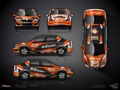 The approved wrap design for UMMC Motorsport team