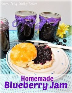 Simple Canning- How to Make Homemade Blueberry Jam! ...... Easy recipe & step x step picture tutorial !