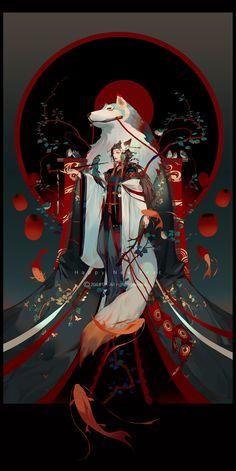 e-shuushuu kawaii and moe anime image board Art Manga, Anime Art, Inspiration Art, Art Inspo, Samurai Artwork, Japon Illustration, Art Asiatique, Art Japonais, Anime Kunst