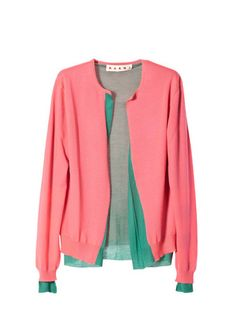 To know more about Marni Long sleeve cardigan , visit Sumally, a social network that gathers together all the wanted things in the world! Featuring over other Marni items too! Red Cardigan, Striped Cardigan, Long Cardigan, Cashmere Cardigan, Turquoise Cardigan, Pink Turquoise, Pink Sweater, Red Long Sleeve Tops, Frock And Frill