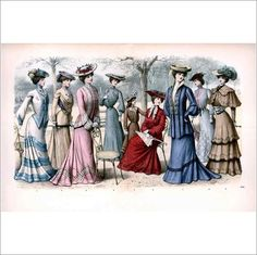 Edwardian Fashion Ladies Print