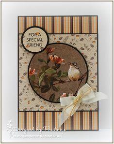 Crafting with Cotnob, Create and Craft TV, Creative Crafting World, Pollyanna Pickering, Pollyanna Pickering Garden Visitors Create And Craft Tv, Garden Birds, Men's Cards, World Crafts, Animal Cards, Big Shot, Wren, Bird Feathers, Homemade Cards