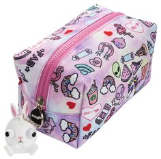 pencil case for kids and teenagers. Unique, teen doodle stationery accessory for girls and boys. Can be used as day to day stationery organiser or even make-up bag. Hold up to 110 writing essentials. Ideal for creative individuals that are into stati Cool Pencil Cases, Camera Wrist Strap, Cool School Supplies, Cute Stationery, Stationary, Kid N Teenagers, Bag Patterns To Sew, Cute Unicorn, Girls Accessories