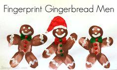 gingerbread+craft+ideas | DIY Fingerprint Gingerbread Man Craft For Kids