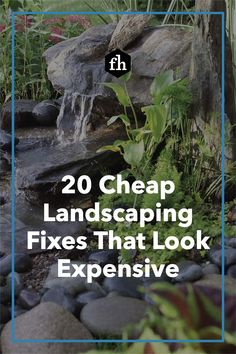 Fake it until you make it with these cheap landscaping fixes that look expensive. Pool Backyard, Backyard Water Feature, Garden Trellis Panels, Patio Yard Ideas, Front Yard Decor, Small Water Features, Landscape Curbing, Rock Garden Design, Home Landscaping