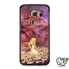 Alice In Wonderland Stay Weird Samsung Galaxy S7 Case