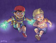 Ness and Lucas by limey404