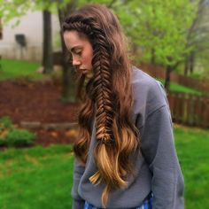 """Dutch fishtail • I'm like the least creative person with hair at the moment but oh well"" Photo taken by @claire_hair on Instagram, pinned via the InstaPin iOS App! http://www.instapinapp.com (04/13/2015)"