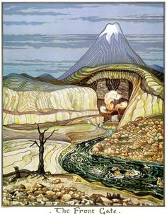 The Lord of the Rings - J.R.R. Tolkien Art - The Hobbit - The Front Gate at the Lonely Mountain