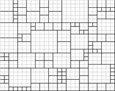 схема расположения квадратов пледа