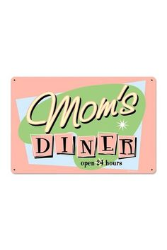 Mom's Diner Retro Metal Sign