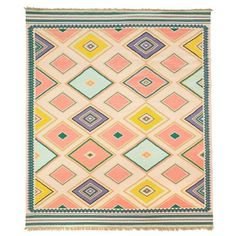 Moon Canyon Rug, Pink ($182) ❤ liked on Polyvore featuring home, rugs, moon rug, pink rug, geometric pattern rug and pink area rug