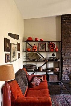 the orange velvet couch i adore