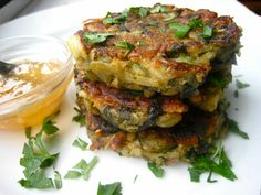 Curried Spinach Potato Pancakes