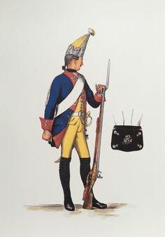 Plate 217. Regiment No. 15. Garde (1806 desgleichen) 3tes Bataillon Grenadier