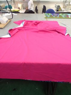 Pink cotton fabric to use for the back