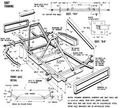 Want to build your own go-kart? This article lists all the items you will need to put your own kart together. Go Kart Frame Plans, Go Kart Plans, Build A Go Kart, Diy Go Kart, Buggy, Cycle Kart, Go Car, Drift Trike, Karting