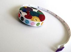 All About The Buttons Covered Tapemeasure #zibbet