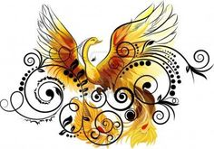 """Phoenix Rising....love this. May be considered for my next tattoo. Different colors, but same concept. """"I have survived the burning flames, and rose from the ashes. I am the Phoenix Rising."""""""