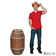 Wooden Barrel Stand-Up