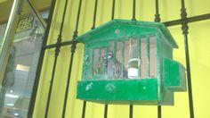 Game birds are kept in cages to fatten them up for the hunting season. El Cortijuelo near Villanueva del Trabuco.