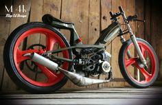 Hardly Davidson, Vintage Moped, Mini Chopper, Motorised Bike, Power Bike, Honda Cub, Cruiser Bicycle, 50cc, Mini Bike
