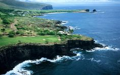 The Challenge at Manele on the Island of Lana'i where the cliffs of Hulopoe Bay meet the Pacific Ocean - Visited June 2011 Lanai Island, Best Golf Courses, Most Expensive, Hawaii Travel, The Locals, Beautiful Places, Net Worth, Around The Worlds, Larry