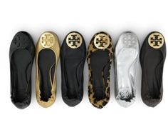 Tory Burch Ballet Flats. I have the gold. Wish I could complete all 6.