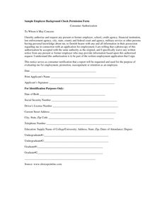 Criminal Background Check Form For Employment  Google Search  Ps