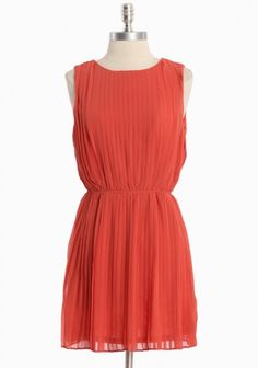 whispering poppy pleated dress  $45.99  notice the great open back!