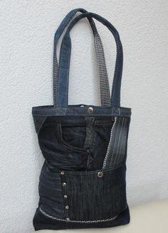 """Schultertaschen - Jeanstasche,  Upcycling """"Rapunzel"""" - ein Designerstück von Gasani bei DaWanda"""