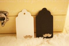 Mustache Gift Tags  Perfect for Weddings by SillyLoveSongCustoms