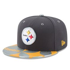b5dace10a7e Pittsburgh Steelers New Era 2017 NFL Draft Spotlight 59FIFTY Fitted Hat -  Graphite Steelers Hats