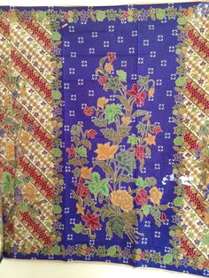 Your place to buy and sell all things handmade Malaysian Batik, Wool Fabric, Blue Yellow, Etsy Store, Bohemian Rug, Craft Projects, Weaving, Creations, Fabrics