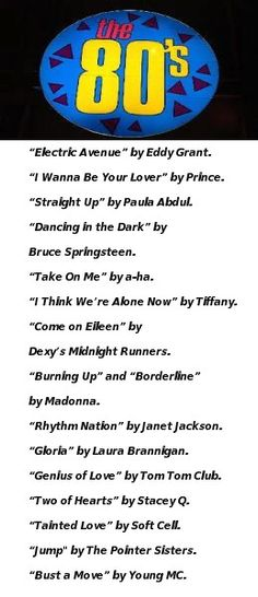 80's Playlist