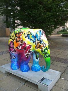 Beauty of freedom, Luxembourg Elephant Walk, Elephant Parade, Elephant Love, Elephant Tattoo Design, Elephant Tattoos, Animal Statues, Animal Sculptures, The Golden Lady, Painted Elephants