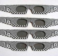 4 Pair of Vintage 1983 Black White Op Art by kelleystreetvintage