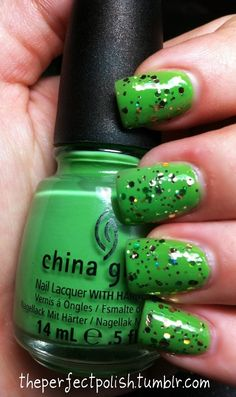 my version of St. Patricks Day nails! :) Covered in little gold coins. Enjoy and follow my blog <3
