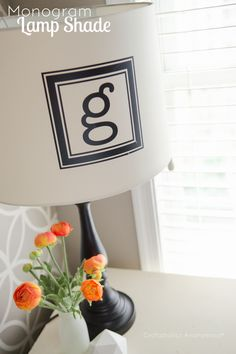DIY Monogram lamp shade. This looks awesome! Easy to do too.
